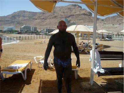 Black mud from the Dead Sea, Ein Bokek - Israel